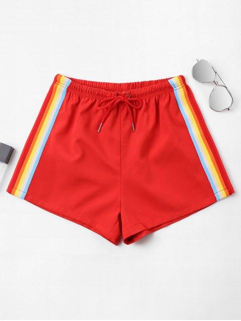 Shorts rayés taille haute - Rouge de Pompier XL Mobile