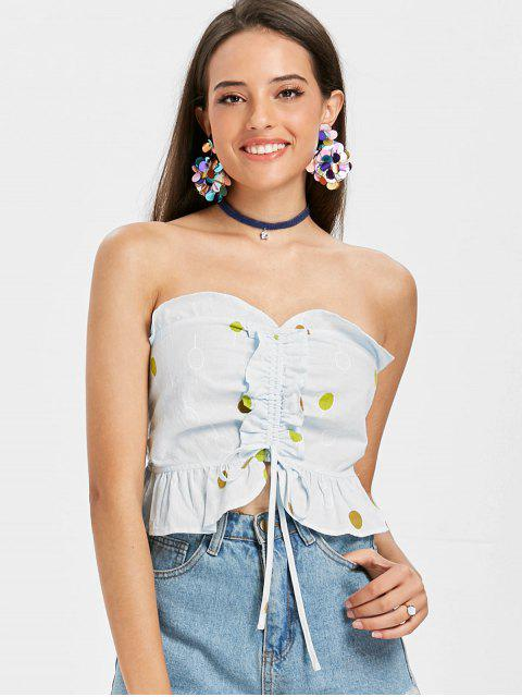 hot Balloons Cinched Tank Top - LIGHT BLUE S Mobile