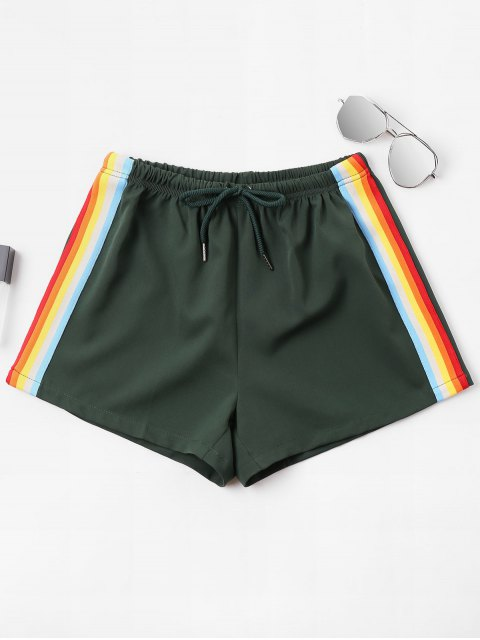 Shorts rayés taille haute - Vert Mer Moyen XL Mobile