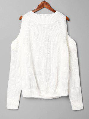 zaful Pullover Open Shoulder Sweater