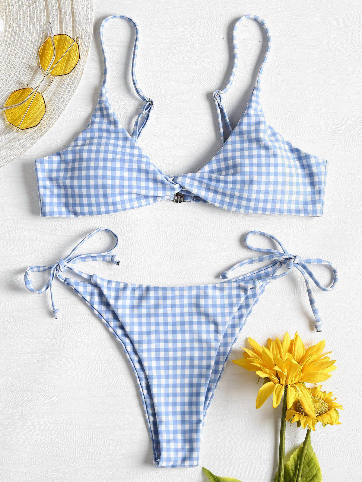 Twist Front Gingham St