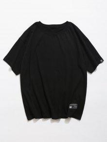 M Camiseta Con Letras Negro De Estampado Traseras OTYqwvUT