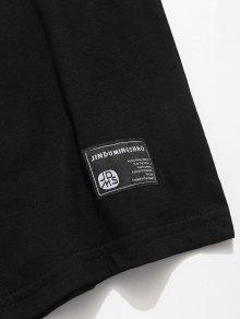 Tee Graffiti Personalidad Impreso Negro Streetwear M wx6HA