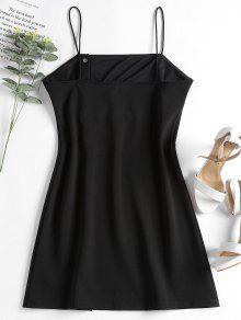 Abotonado Cami M Negro Mini Vestido T5HqXxnEw