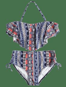 Y Bikini Lazo Grande Superpuesto Estampado Multicolor L Lateral Con Talla n0rfrXxwqR