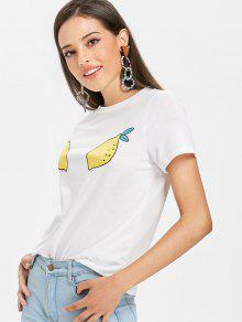 الليمون الجرافيك المحملة - أبيض Xl