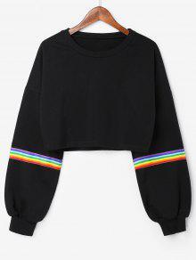 Capucha Rainbow Sudadera Negro Stripes Con M vTnHx85