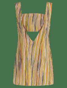 Multicolor Top Sin Bandeau Vestido Mangas Stripes S 1X4wqn