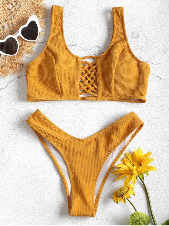 Bikini Con Lacci Anteriori - Gialllo Ape M