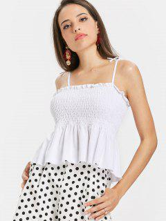 Smoked Tied Straps Tank Top - Blanco S