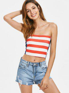 American Flag Patriotic Bandeau Top - Multi S