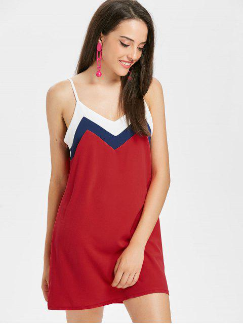 Robe moulante à empiècements contrastés - Rouge de Pompier XL Mobile