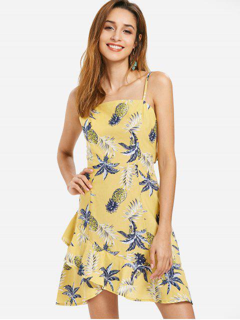 Vestido Cami anudado de piña - Amarillo de Sol  M Mobile