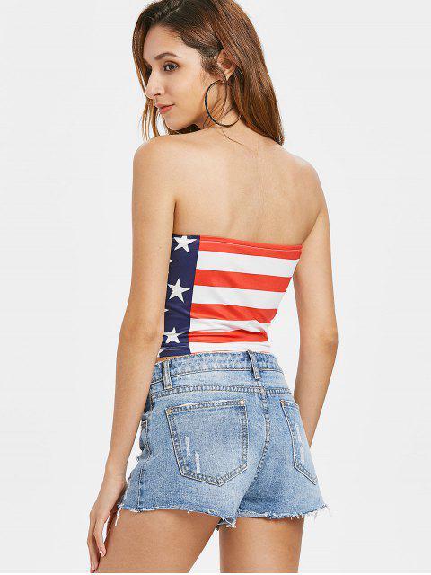 shop American Flag Patriotic Bandeau Top - MULTI L Mobile