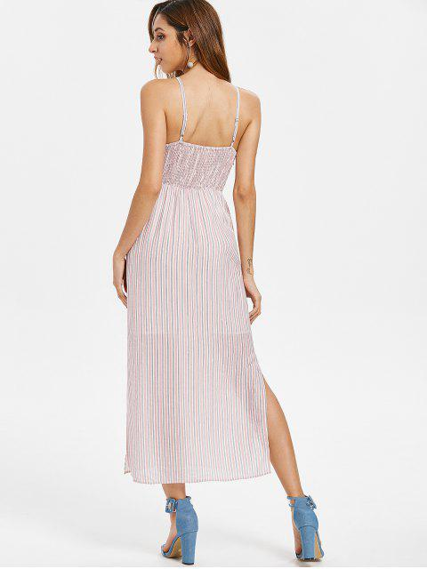 6842a41033 ... women s Stripes Knotted Slit Dress - LIGHT PINK S Mobile