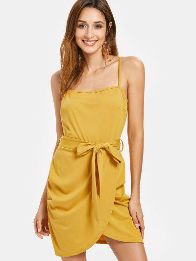 780cccc8f53 Belted Cami Dress - Bright Yellow L