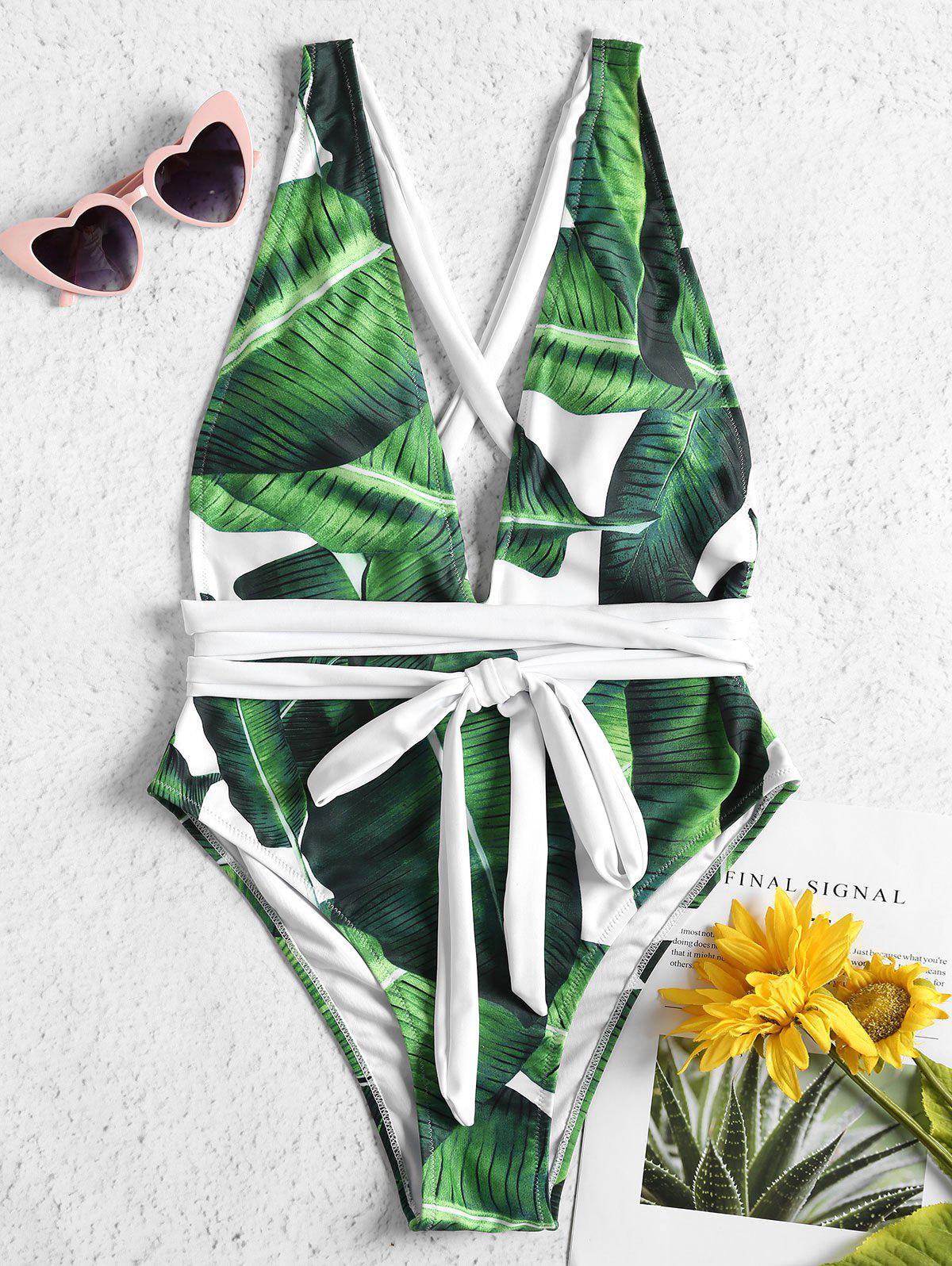 Self-tie Palm Leaf One