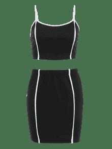 Negro Conjunto Cami Plisada De Falda S TIaIA8q