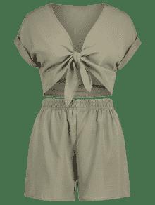 S Verde Con Pliegues Juego Anudados Cortos Pantalones Ejercito De Delanteros 4Z8Uz