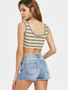 Tank Front Multicolor Tie Top Stripes M qE5xHUnSIw