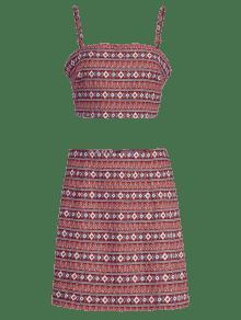 S Set Cami Multicolor Skirt Bohemian zZIq1nw1