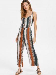 8b0542985df1 31% OFF  2019 Knotted Back Striped Jumpsuit In MULTI