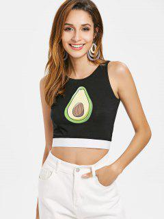 Fruit Crop Tank Top - Black S