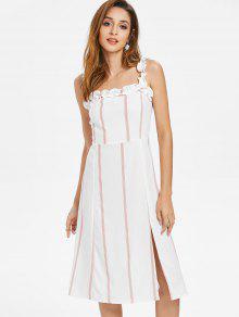 مخطط اللباس الكشكشة الأشرطة - أبيض M