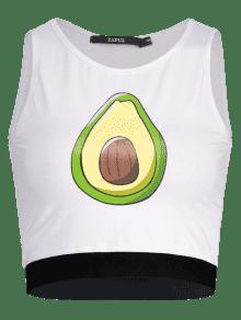 De Con Frutas Camiseta M Blanco Sin Estampado Mangas xOx4Iq