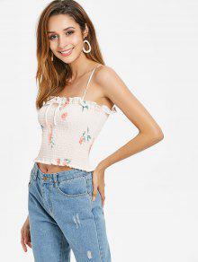 Rosa Redondo Mangas Camiseta Cuello Chicle Sin Con L Bowknot q0Cw6z