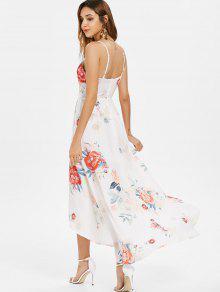 Con S Floral Delantero Asim Vestido Lazo 233;trico Blanco Ww7xH4xn6q