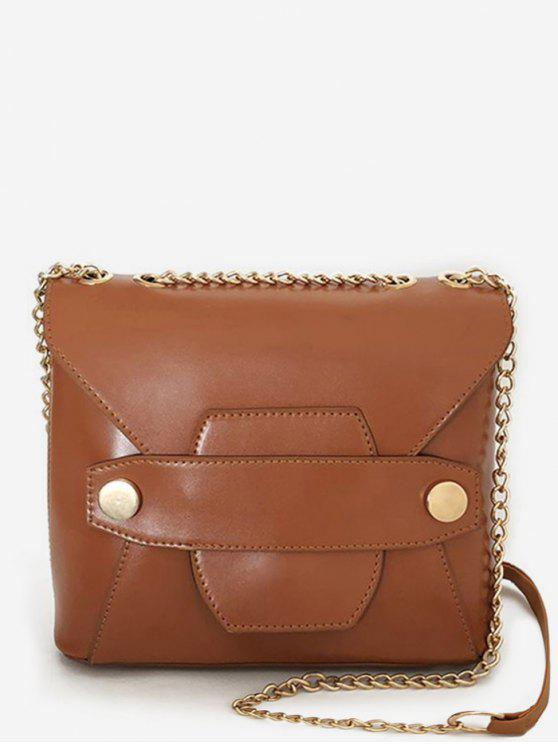 women's PU Leather Vintage Minimalist Daily Crossbody Bag - BROWN