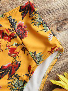 7183cd4f09735 15% OFF] 2019 Bandeau Top And Floral High Waisted Swim Bottoms In ...