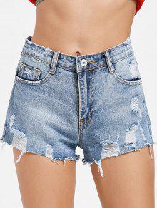 تدمير السراويل الجينز المدمرة - جينز ازرق S