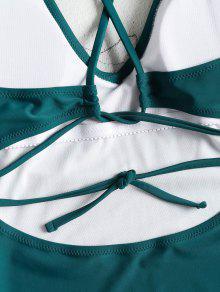 Azul Corte Una o Y 1x Talla De Ba Alto Verdoso Traje Grande De Pieza qxzPAwA