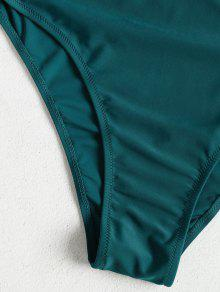 Una Ba 1x o Talla Azul Verdoso Grande De Traje Pieza Alto Y De Corte UAwfTnIx