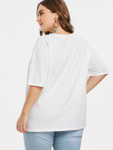 Estampada Lim De 243;n Estampado Blanco Con Camiseta L FqwxStdF