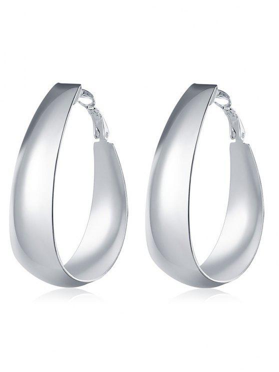 trendy Vintage Sterling Silver Round Hoops Earrings - SILVER