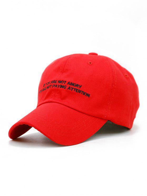 best Letter Sentence Embroidery Trucker Hat - LOVE RED