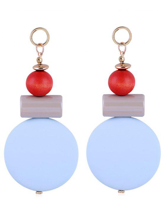 lady Unique Round Balls Resin Drop Earrings - BLUE ANGEL
