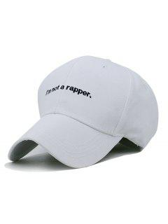 I AM NOT A RAPPER Embroidery Hunting Hat - White