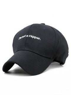 I AM NOT A RAPPER Embroidery Hunting Hat - Black