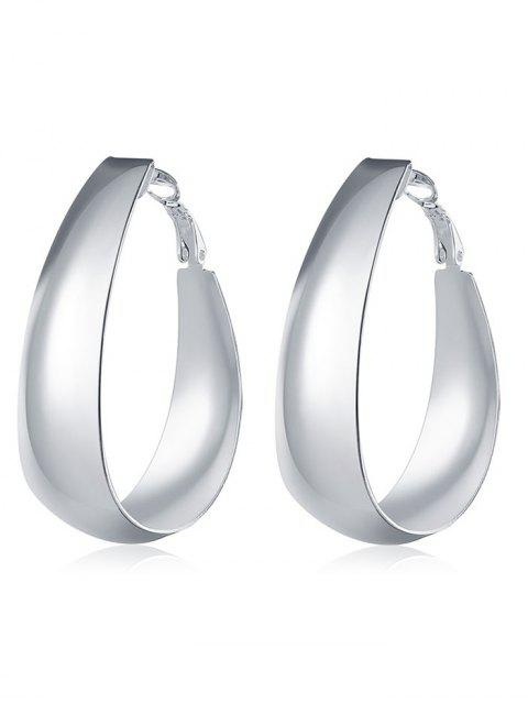 trendy Vintage Sterling Silver Round Hoops Earrings - SILVER  Mobile