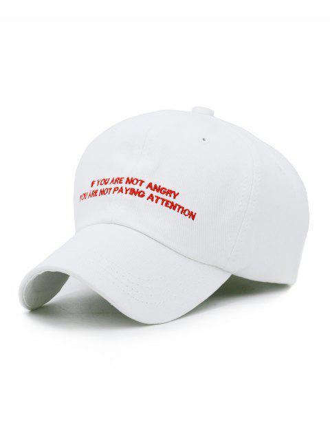 Chapeau de Camionneur Motif Phrase Brodée - Blanc  Mobile
