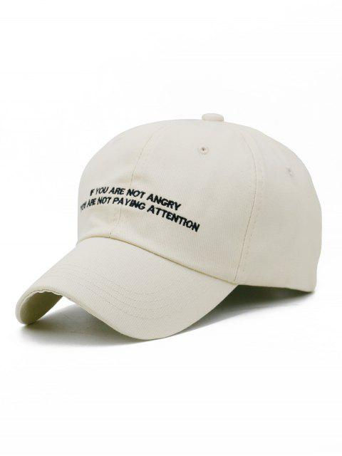 chic Letter Sentence Embroidery Trucker Hat - LIGHT KHAKI  Mobile