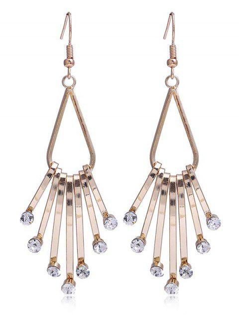 buy Unique Faux Crystal Alloy Fringed Hook Earrings - WHITE  Mobile