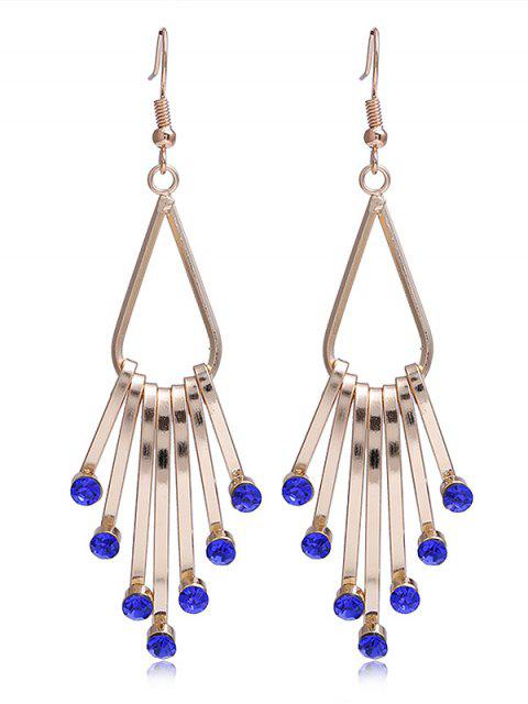 best Unique Faux Crystal Alloy Fringed Hook Earrings - BLUE  Mobile