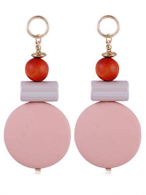 Pendientes de gota de resina de bolas redondas únicas - Rosa  Mobile
