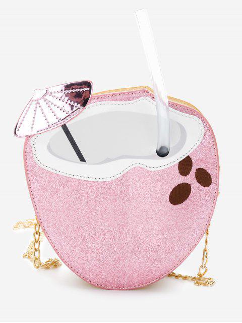Glitters Decoration Patchwork Bolso bandolera con cadena - Rosa Claro  Mobile