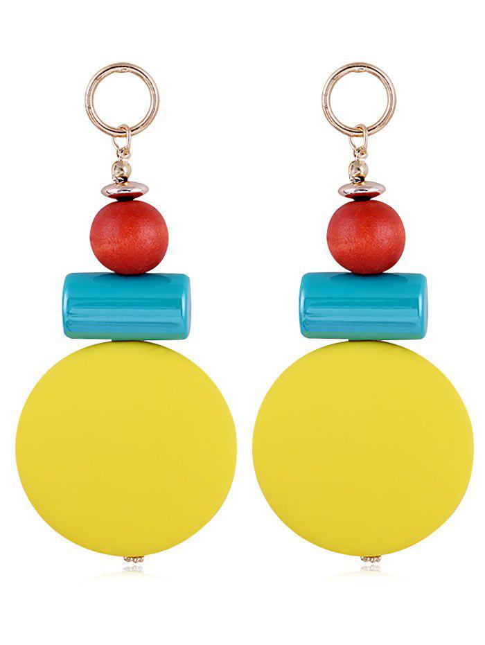 Unique Round Balls Resin Drop Earrings